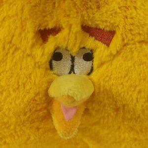 "Angry Birds Yellow Inflated Bubbles Plush 12"" Stuffed Animal Globe 2012 W/ Sound"