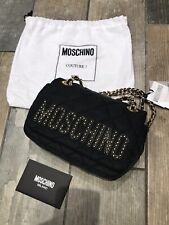 Moschino Couture Black/Gold Quilted Chain Strap Shoulder Bag BNWT £355