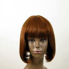 perruque AFRO femme 100% cheveux naturel châtain clair cuivré JACKIE 01/30