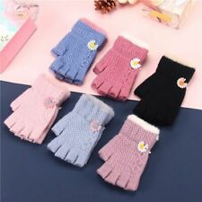 Children Mittens Toddler Cute Thicken Girls Boys Winter Woolen Knitted Gloves