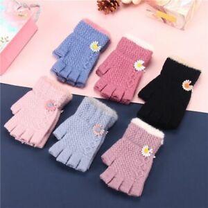 Children Mittens Toddler Cute Thicken Girls Boys Winter Woolen Knitted Gloves