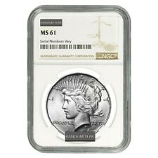 Peace Silver Dollar $1 NGC MS 61 (Random Year, 1922-1935)