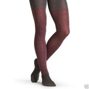 Athleta by Hansel From Basel Grammer Tight, Charcoal Heather Red SIZE S/M