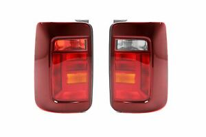 VW Caddy 15- Smoked Rear Tail Lights Lamps Set Pair 2 Door Barn door LHD