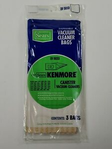 Sears Kenmore Canister Disposable Vacuum Cleaner Bags 20-5033 3 Pack