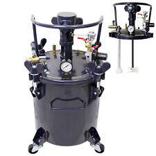 5 Gallon PRESSURE FEED PAINT POT TANK Spray Gun Sprayer Regulator Air Agitator