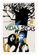 "Decor Graphic Design movie Poster""DRY Lives""Brazilian Art film.Brazil.Cerebral"