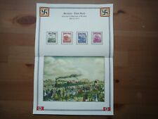 Germany Nazi 1935 Stamps Used Trains Centenary of railroad in Germany WWII Third