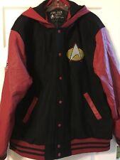 Star Trek Starfleet Command XXL 2XL Letterman Hooded Jacket New With Tags