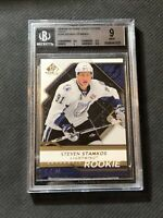 2008-09 SP GAME USED STEVEN STAMKOS AUTHENTIC ROOKIE GOLD #ed 7/50 BGS 9 MINT
