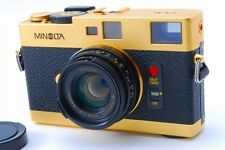 【Very Rare!!】 Minolta CLE Gold Limited + M-ROKKOR 40mm f/2 Gold Lens JAPAN R3110