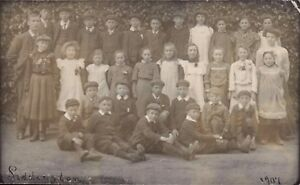 Siddington near Cirencester. 1907 School Group.