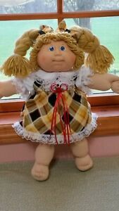 Cabbage Patch Clothes Handmade.. Yellow and Black Plaid with Lace Pretty!!
