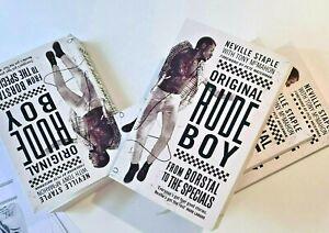 Exclusive Original Rude Boy Artwork & Book Autographed by Neville Staple