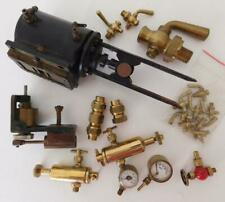 LOT3 Asst Bag Of Model Steam Engine Parts Valves Dials Gauges  Etc