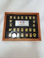 NFL 1967-1991 SUPER BOWL SILVER ANNIVERSARY COMMEMORATIVE PIN COLLECTION