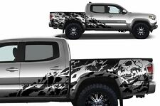 Vinyl Decal NIGHTMARE Wrap for 4D Short Bed 16-17 Toyota Tacoma TRD Matte Black