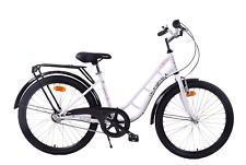 """Kayoba Swan 24"""" Wheel Girls Traditional Heritage 3 Speed Nexus Bike White/Pink"""