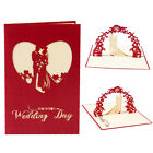 Wedding Day 3D POP UP Congratulations Card Paper Carving Greeting Birthday M R L