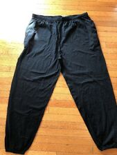 KINGSIZE MENS 4XL Big & Tall Black Soft Stretch Elastic Waist Sweat Pants NWOT