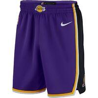 New 2020 Nike Los Angeles Lakers Statement Edition Swingman Performance Shorts