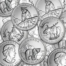 1 oz Silver Canadian Wildlife Series (Random Year, Light Spots) - SKU #69443