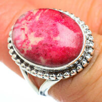 Thulite 925 Sterling Silver Ring Size 6 Ana Co Jewelry R45351F