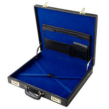 Genuine Real Leather Classic Layflat WM or Mm Masonic Regalia Case