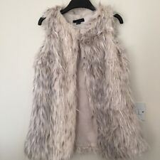 faux fur beige gillet size 10-12  perfect condition (available Until 21/2)