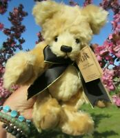 "VINTAGE ADORABLE 12"" OOAK SUNNY BLONDE MOHAIR TEDDY BEAR ARTIST GINGER BRAME"