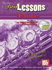 "MEL BAY'S ""FIRST LESSONS-FLUTE"" MUSIC BOOK/CD-BRAND NEW ON SALE-METHOD-RARE!!!"