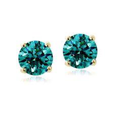 Swarovski Elements December Birthstone Stud Earrings in Gold Tone