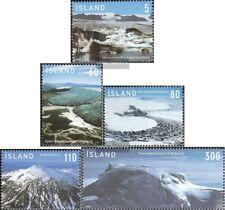Island 1163-1167 (kompl.Ausg.) postfrisch 2007 Gletscher