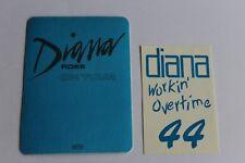Diana Ross - 2 x unused Backstage Pass - On Tour -  Free Postage -