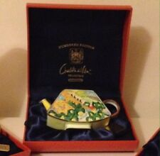 L@@k New Boxed Charlotte di Vita Valley Saint-Reoy1889- Miniature Enamel Teapot