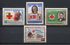 "37306) GUATEMALA 1964 MNH** Red Cross ovptd ""Olympic G."