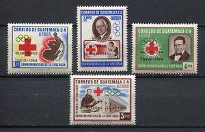 "37306) Guatemala 1964 MNH Red Cross Ovptd "" Olympic G"