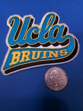 """UCLA BRUINS  vintage iron on embroidered patch 3.5"""" X 2.5"""" SCRIPT"""