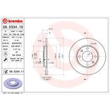 Bremsscheibe (2 Stück) COATED DISC LINE - Brembo 08.5334.11