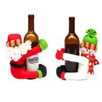 Wine Bottle Holder Christmas Santa Claus Snowman Theme Cover Cute Wine Decor New