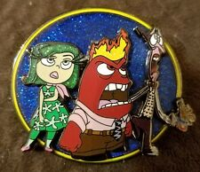 The Meltdown Anger Fear Disgust Inside Out Blue Glitter LE 150 Jumbo Fantasy Pin