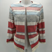 J. McLaughlin Red, White & Blue Jacket Size Large