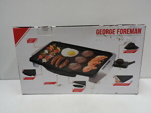 George Foreman Electric BBQ Grill Plate Barbecue Griddle Hotplate Indoor Outdoor