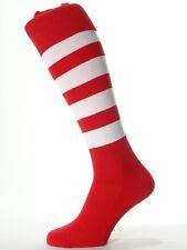 15 Prs Umbro Men's Football Socks Red & White Hoops UK Size 7-11 (50180U-A54)