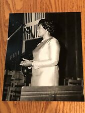 Vintage Black Americana 8X10 Photo Of bEautiful Young Lady Singing The Gospil !