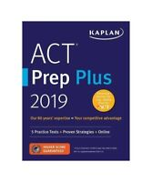 "Kaplan Test Prep ""ACT Prep Plus 2019: 5 Practice Tests + Proven Strategies + Onl"