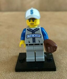71001 Lego Baseball Player Stackers Collectible Minifigure series 10 catcher