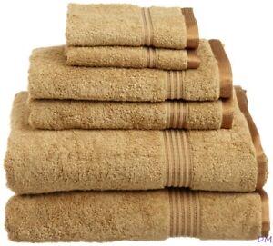 6-pc Toast Superior 600 GSM Combed Cotton Towel, Hand Towel, Washcloth Set