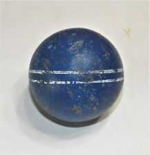 1 Smooth 3 in. Croquet Ball - Blue With 2 White Stripes