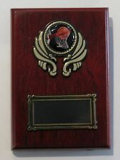 Basketball  Trophy / Wooden  Plaque 125x90mm  Engraved FREE